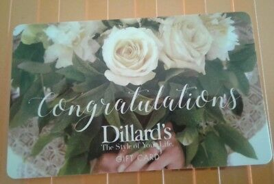 Dillard's Congratulation's Gift Card, Yellow Roses,  Mint Collectible