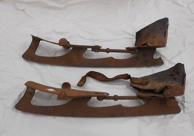 Pair of Antique Springfield MASS Ice Skates