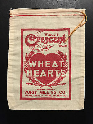 1969 Voigt Milling Company Wheat Heart Cloth Bag (Never Used)