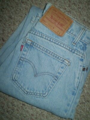 Vtg Levi's 551 Light Distress High Waist Relaxed Fit Tapered Leg Mom Jeans 8 L