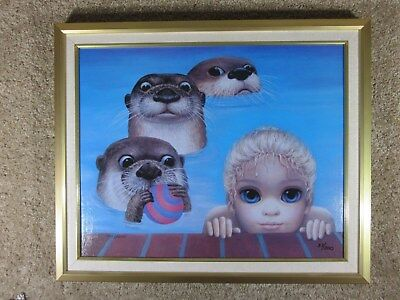 Margaret Keane - Weekend Ball Game - Graphic on Canvas - Ltd Ed - 37/300 -w/ COA