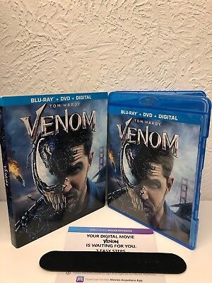 Venom 2018 Blu Ray + Digital HD CODE ONLY!! NO DVD INCLUDED!! Please Read!!