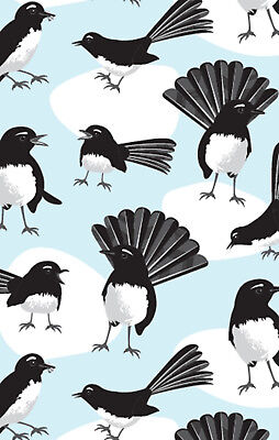 Willy Wagtail Bird Cotton Tea Towel Approx 74cm x 47cm