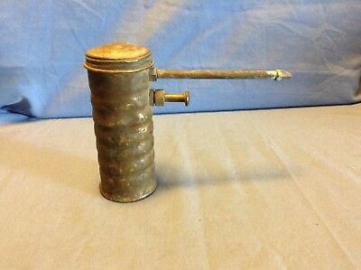 RARE Vintage Brass Eagle Oil Can Oiler Pump No. 66 Style Made in USA