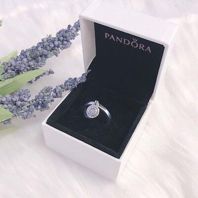 1201ee44b NEW Authentic PANDORA Signature Logo CZ Stackable Statement Ring 197400CZ