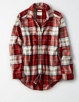 905a704a52 Womens Size L American Eagle Outfitters Ahhmazingly Soft Plaid Flannel Shirt  Nwt
