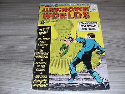 Unknown Worlds #1. Very Good+ (4.5). American Comics Group. Acg. August 1960.