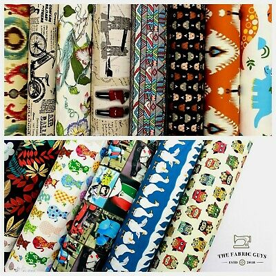 """Premium Cotton Upholstery Canvas Fabric, 14 Printed Designs, 60"""", High Quality"""