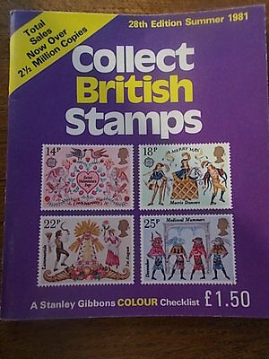 Stanley Gibbons Collect British Stamps Summer 1981 28th Ed Colour Checklist