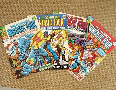 Marvel - The Complete Fantastic Four UK weekly - #3 #4 #7 #11 - 4 issues