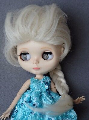 """【Tii】8-10/"""" 12/"""" Blythe Pullip Hair doll wig fruit color fantasy long curly scalp"""