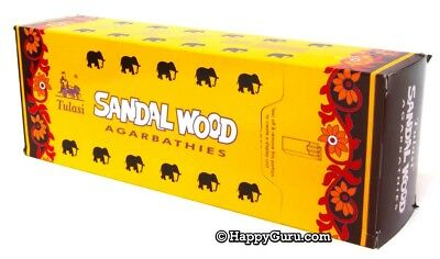"""Sandalwood"" 120 Incense Sticks (6 Hex Packets) Tulasi Brand Incense One Carton"