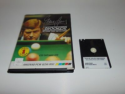 Steve Davis Snooker Includes Pool Billiards | Amstrad PCW 8256 8512 + Free Game