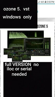 OZONE 5 Mastering Suiten (VST) no iLok License needed or serial WINDOWS ONLY