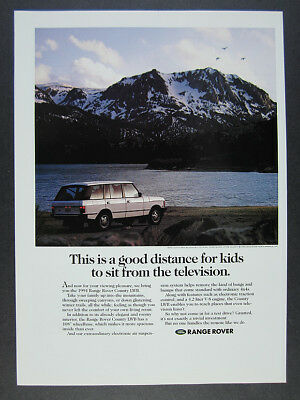 1994 Range Rover County LWB mountains lake photo vintage print Ad