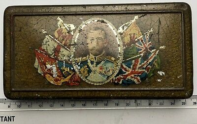 1911 King George V Rowntree & Co Tin which doubled up as a Cigarette Tin!!