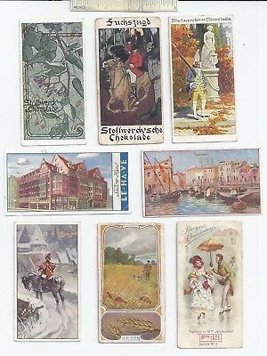 #31 c1900 Lot of 8 Diff Famous German Various / Misc Advertising Trade Card Ad