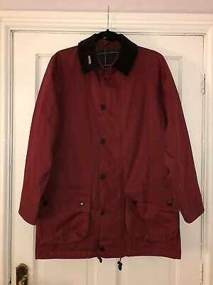 Men's Barbour Bedale Jacket Small Size In Red EXCELLENT CONDITION