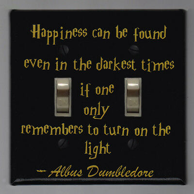 Harry Potter Double Light Switch Cover Plate - Happiness Albus Dumbledore