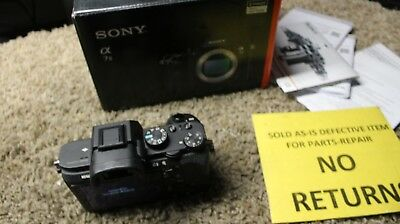 Sony Alpha a7 II 24.3MP Mirrorless Digital Camera - BODY ONLY! for parts