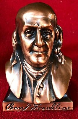 1950s Benjamin Franklin Bust and Coin Bank Advertising Franklin Life Insurance