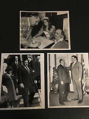 1970'S Phila. Mayor Frank Rizzo 3 Diff. Original Press Photos