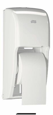 Tork Bath Tissue Box 20 93 00, 2 Roll Bathroom Tissue Dispenser, White