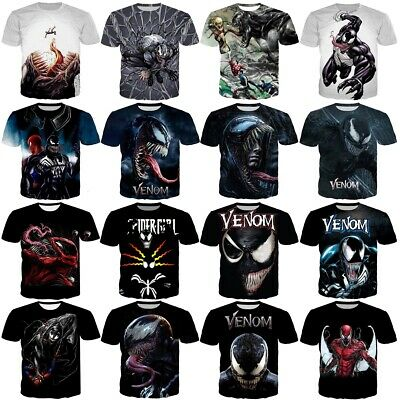 Movie Venom Summer Printed Short Sleeve Women Men 3D Casual T-Shirt Many Style