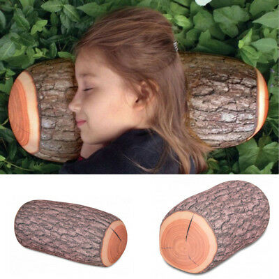 New 3D Pine Tree Wood Pile Log Soft Cushion Pillow Toy Back Pad Home Decor