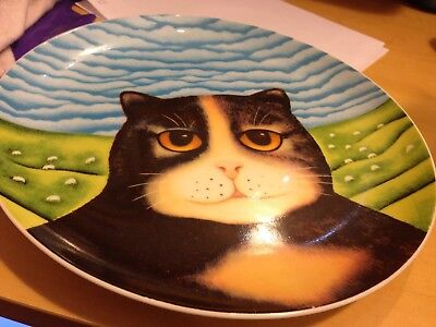 Department 56 Priscilla Cat Plate By Martin Leman