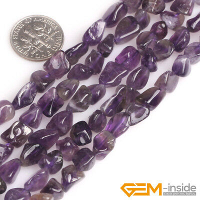 "Natural Gemstone Freeform Nugget Amethyst Beads For Jewelry Making Strand 15"" YB"