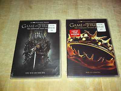 GAME OF THRONES DVD Set!~The Complete 1st. & 2nd. Seasons!~10 Discs!~$29.98!