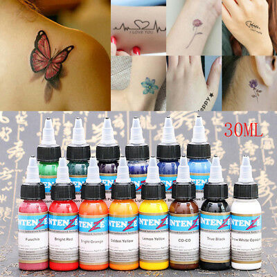 30ML Professional Tattoo Ink Monochrome 14 Colors Practice Sets Tattoo Pigment