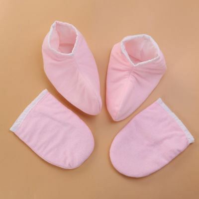 2 Pairs Paraffin Gloves Bath Foot Thermal Thick Paraffin Mitt Covers for Therapy