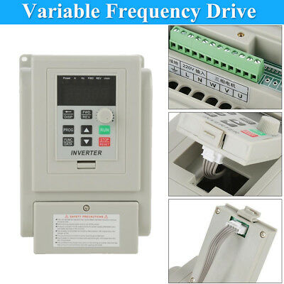 220V Single To 3 Phase VFD Variable Frequency Drive Inverter Speed Converter