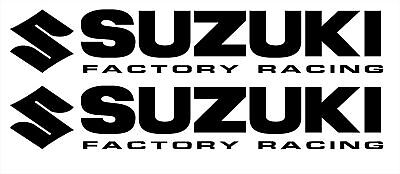 2x SUZUKI Factory Racing Bellypan Stickers Decals Graphics GSXR 200mm Any Colour