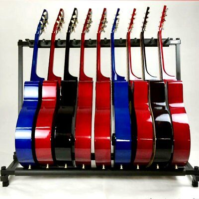 7 Way Multi Guitar Rack Holder Stand Electric Acoustic Bass Multiple Folding Dis