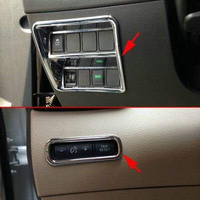 For Nissan Rogue Qashqai X-Trail Dashboard Adjust Switch Button Cover Trims