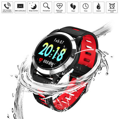 Waterproof Smart Watch Heart Rate/Oxygen/Blood Pressure Monitor for iOS Android