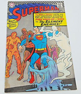 Superman #190 Silver Age DC Comics 1st Appearance of Amalak F/VF