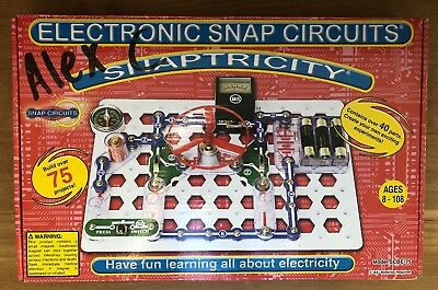 Elenco Snap Circuits SCBE-75 Snaptricity Over 75 Projects Ages 8 ***SPECIAL****