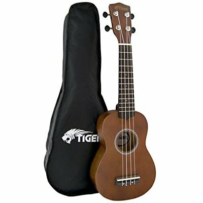 Tiger Natural Ukulele with Bag
