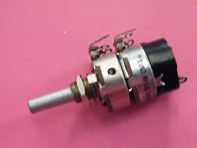 24mm AB Potentiometer 1/4 Spindle 1M RLog Dual Gang +DPST Switch Vintage CB20