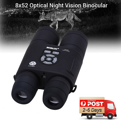 PRO 8x52 Optical Infrared Night Vision Binocular Outdoor Telescope Monocular AU