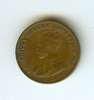 Canada 1925 Small Cent  Choice Extremely Fine  Key Date!
