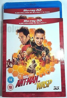 ANT-MAN AND THE WASP New 3D + 2D Blu-Ray w/ Slipcover Marvel Cinematic Universe