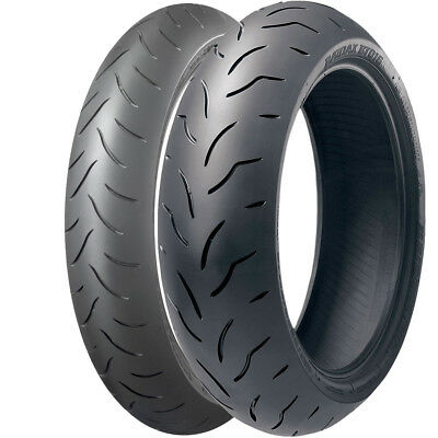 160/60zr17 & 120/60zr17 Bridgestone BT016 Dual Compound Motorcycle Tyres Pair