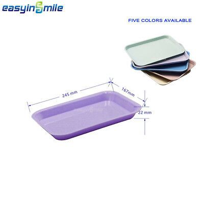 Easyinsmile 1Pc Dental Instrument Tray Flat Autoclave Surgical Lab Tool Tray