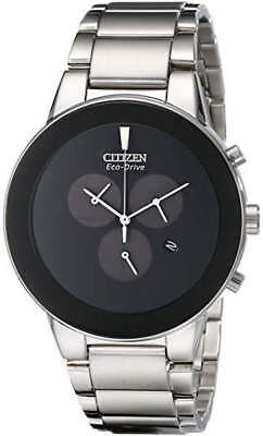 Men's Citizen Eco-Drive Chronograph Stainless Steel Watch AT2240-51E