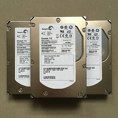 "Lot of 3 Seagate Cheetah T10 146 GB,Internal,10000 RPM,3.5"" (ST3146755SS)"